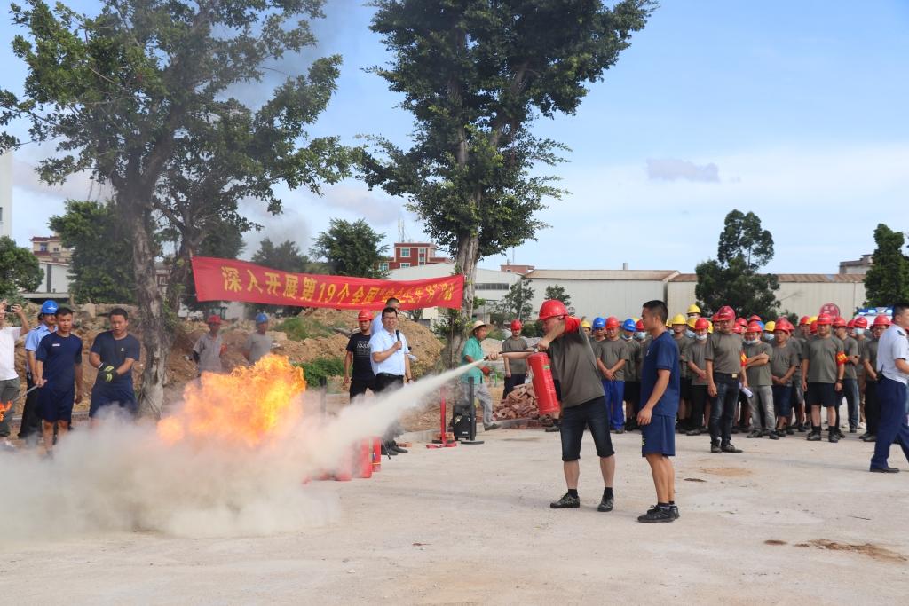 晋工举办2020年安全生产月系列活动之火灾事故应急救援演练